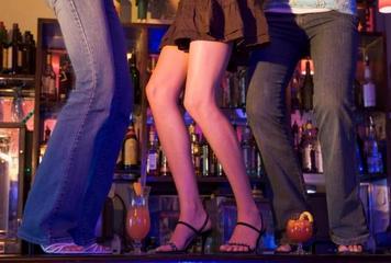 dancing on bar